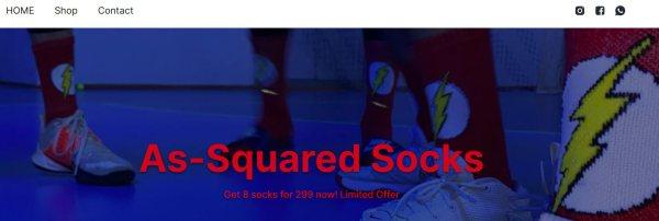 socks ecommerce website on wuilt
