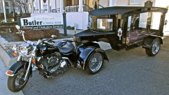 Tombstone Hearse's Harley Funeral Coach