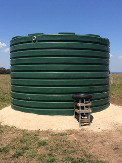Off stream water tank