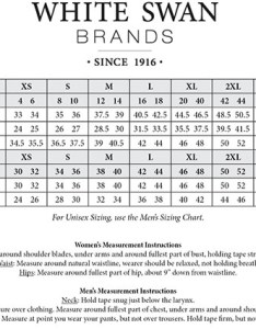 Image result for white swan unisex size chart also fundamentals by  neck solid scrub top medically rh medicallyequipped