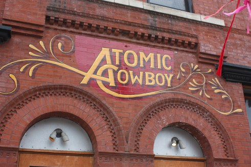 This is one of many new paintings done to the outside of Atomic Cowboy