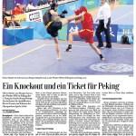 Ein Knockout und ein Ticket für Peking - Oliver Hasler