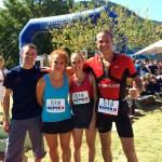 Marathon de l'Ardèche Teamrun - Yvan Plantier - Katia Vigne - Ingrid Mery - Lex Reinhart