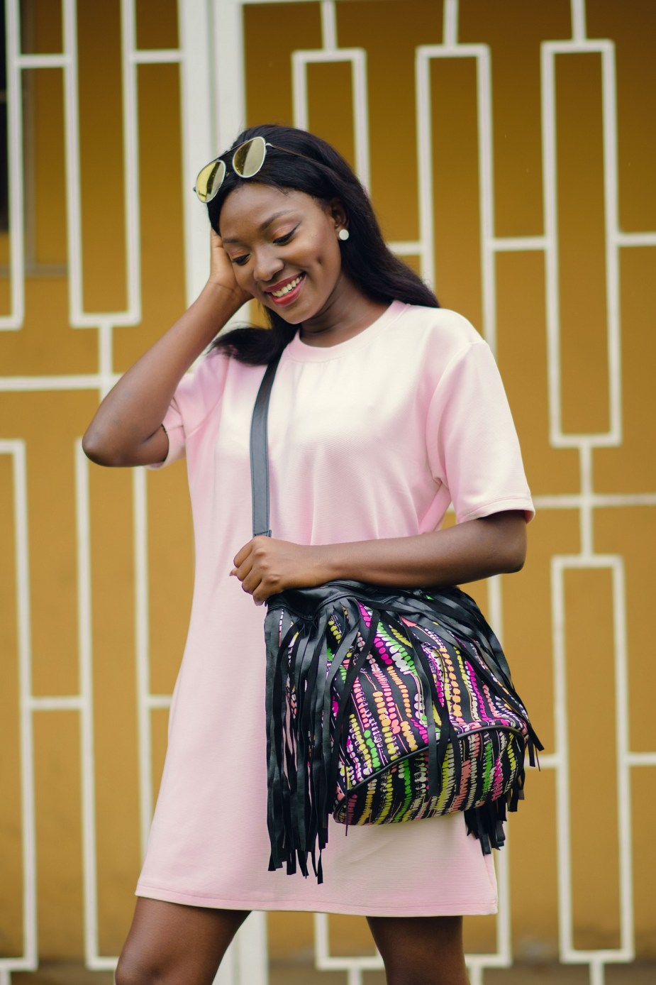 Nigerian Style Blogger Wumi Tuase Styling Shift Dress