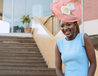 Nigerian fashion blogger Wumi Tuase Wedding outfits fascinator