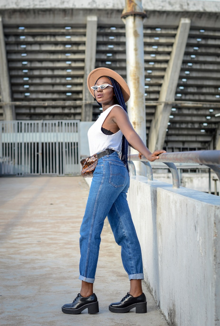 Muscle Tee street style outfit Nigerian fashion blogger Wumi Tuase
