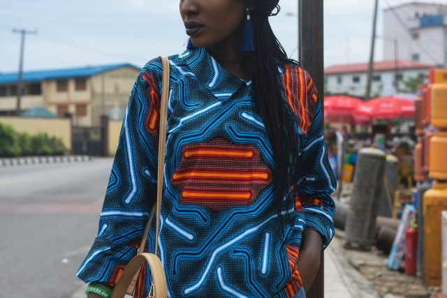 Nigerian Fashion Blogger Wumi Tuase Casual Street Style In Ankara Top