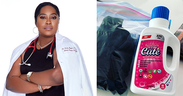 Dr. Tosha Rogers, founder of Clean and Cute Panty Wash
