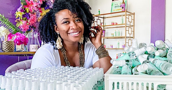 Black Woman Entrepreneur Now Manufacturing Her Own Line of Hand Sanitizer