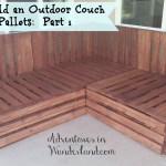 How To Build An Outdoor Couch With Pallets Part 1