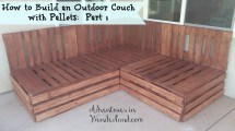 Build Outdoor Couch With Pallets Part 1