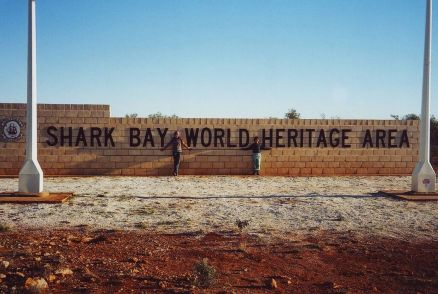 Entrance to World Heritage Area, Shark Bay