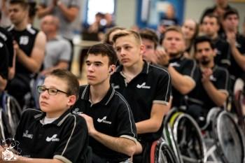 Peter Richarz, Helmut Beines und Uwe Burchardt eröffnen den Junioren Länderpokal 2018.