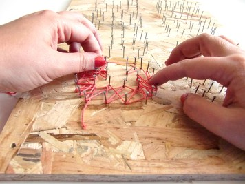 DIY - Tableau au fil first - Wundertute