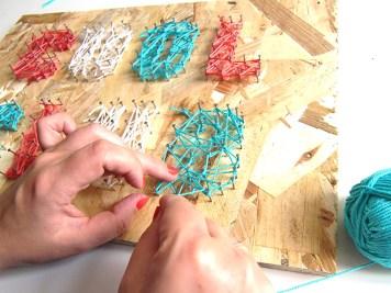 DIY - Tableau au fil last - Wundertute