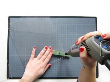 DIY - cadre sur mesure trou - wundertute