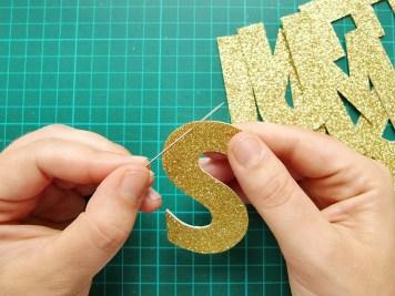 DIY - banderole de fete - wundertute lettre 1