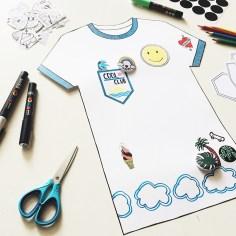teeshirt custom diy papier wundertute