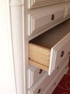 Dovetail drawer detail white painted dresser WunderWoods