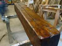 How To Turn New Wood Into Antique Beams   WunderWoods