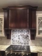 WunderWoods dark cherry iron metal strap kitchen range hood