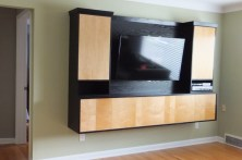 WunderWoods oak maple contemporary TV entertainment wall