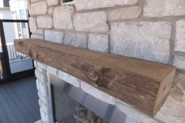WunderWoods river recovered live natural edge mantel