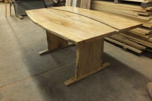 WunderWoods spalted maple live natural edge table