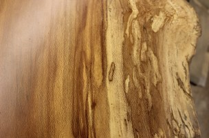 WunderWoods spalted sycamore natural live edge slab table top detail