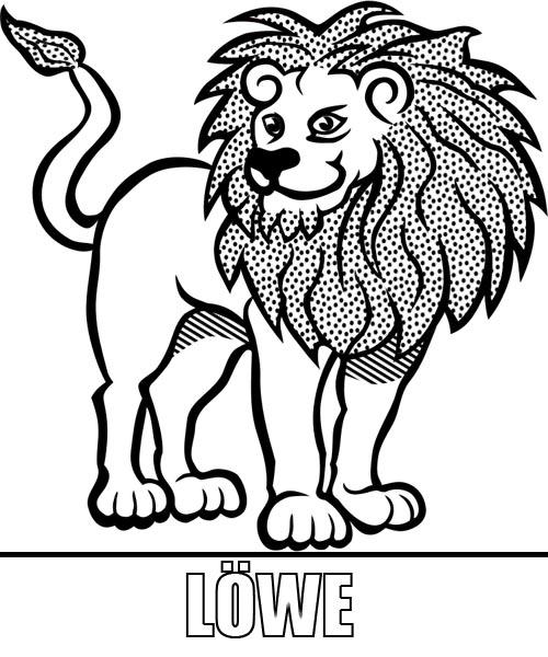 Malvorlage Löwe zum Ausdrucken