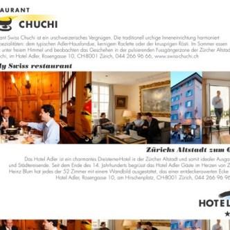 Hotel-Gastronomie: Inserat für Swiss-Chuchi und Hotel Adler