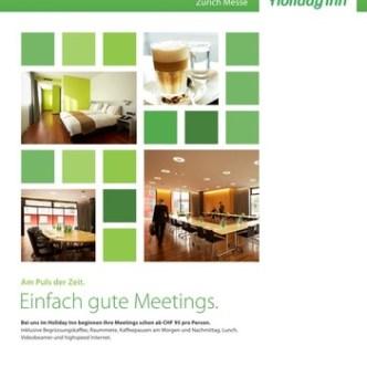 Hotel-Gastronomie: Event-Flyer für Holiday Inn Zürich Messe