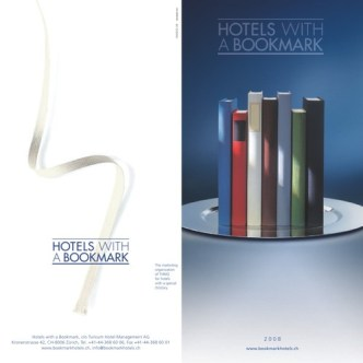 Hotel-Gastronomie: Sammelprospekt Hotels with a bookmark. Cover
