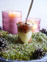 Weihnachtlicher Kuchen im Glas - wunschkindwege