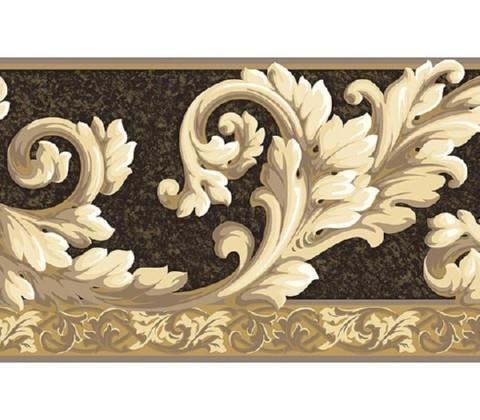 Acanthus Wave Wallpaper Border  AT75114B  Art And