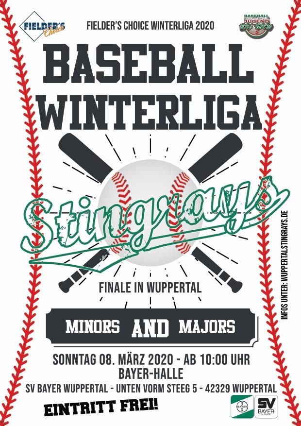 Finale der Fielders Choice Baseball Winterliga 2020 in Wuppertal