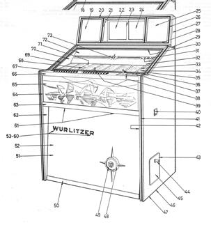 1969 Wurlitzer: W 160 – Lyric/W 100