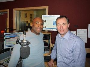 Mark Stonham and Stephen C Campbell in the Ujima Radio Studio