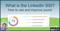 LinkedIn SSI how to use and improve Lead Generation Mark Stonham Wurlwind LinkedWin