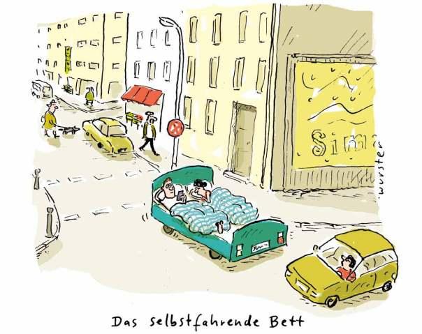 das selbstfahrende bett selbstfahrendes auto