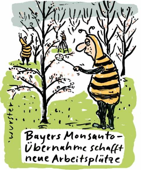 Bayer Monsanto Bienensterben Glyphosat Arbeitsplätze Bestäuber