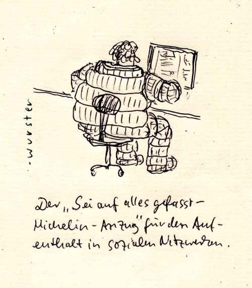 """Der """"Sei auf alles gefasst-Michelin-Anzug"""" für den Aufenthalt in sozialen Netzwerken"""