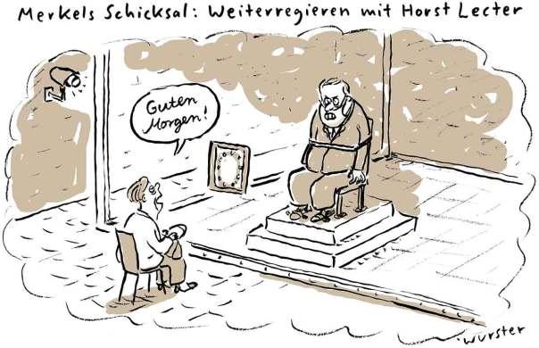 Merkels Schicksal: Weiterregieren mit Horst Lecter