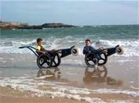 wheelchairs on beach