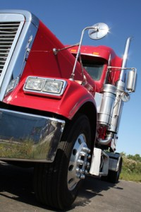 Truck tire causes accident