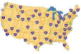 interstate map
