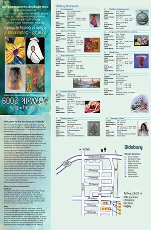 ArtWalk 2009 Map Front