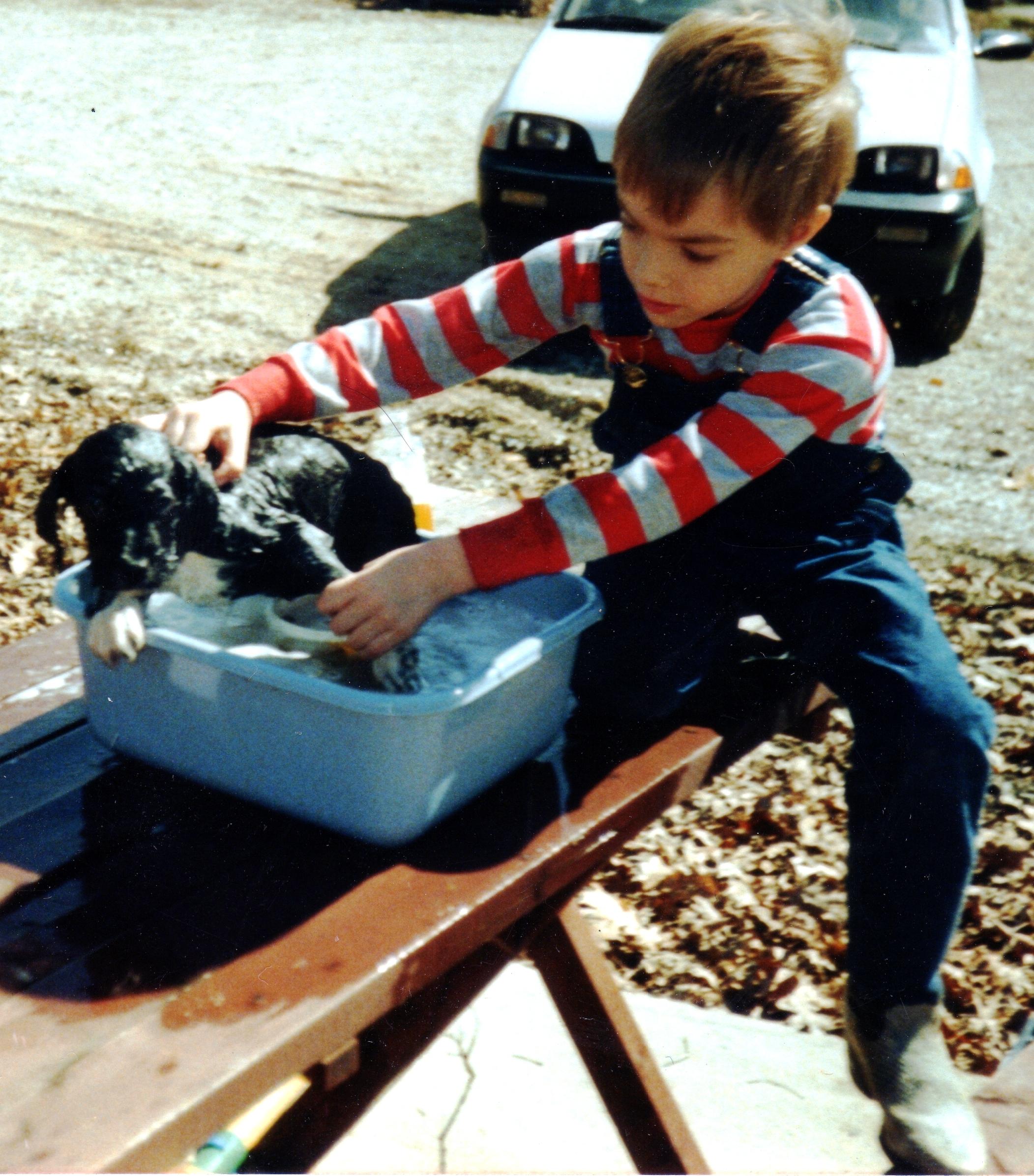 Chef Boy 'R Mine performing Saturday chores.