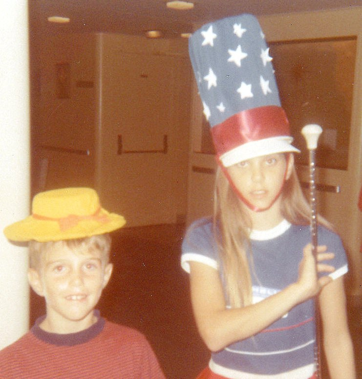 Brother and I before the ship's hat contest.