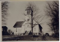 Picture of Bridgeport Methodist Episcopal Church where funeral services for Mrs. Elizabeth Herron Blackwell were held.